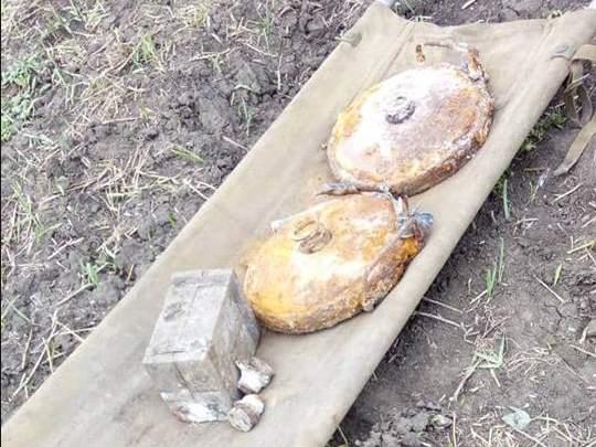 На Николаевщине местный житель обнаружил несколько противотанковых мин